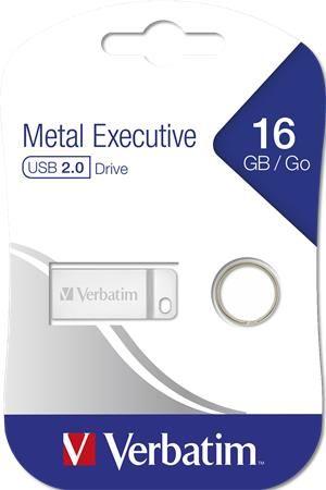 "USB kľúč, 16GB, USB 2.0,  VERBATIM ""Excecutive Metal"""