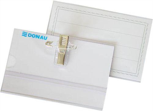 Visačka, so špendlíkom a štipcom, 88x54 mm, DONAU