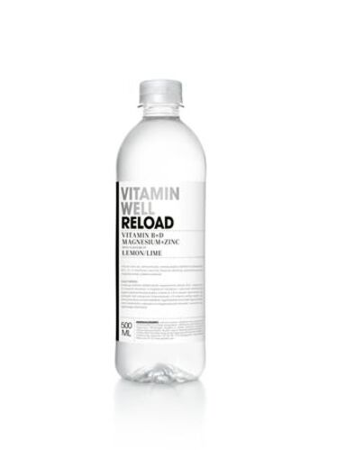 "Vitamínová voda, nesýtená, 0,5 l, VITAMIN WELL, ""Reload"", citrón-limetka"