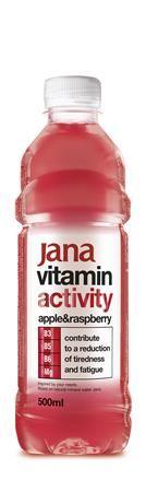 """Vitamínová voda, ochutená, 0,5 l, JANA, """"Activity"""", jablko-malina"""