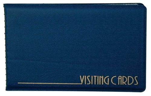 Vizitkár 24ks-ový, PVC, modrý