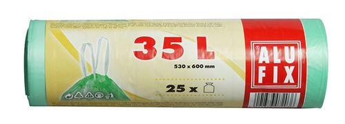 Vrecia na odpadky so zaťahovacím mechanizmom, 35 l, 25ks