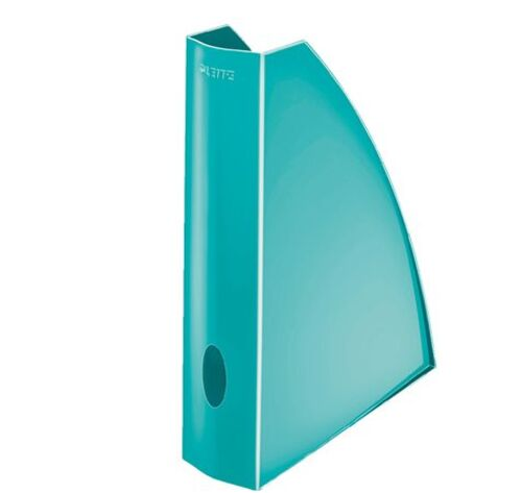 """Zakladač, plastový, 60 mm, LEITZ """"Wow"""", kovovo ľadovo modrý"""