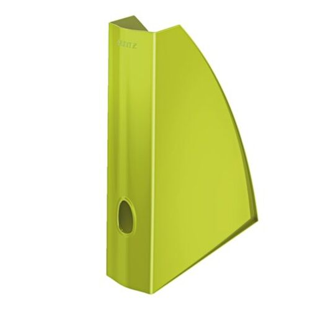 """Zakladač, plastový, 60 mm, LEITZ """"Wow"""", kovový zelený"""