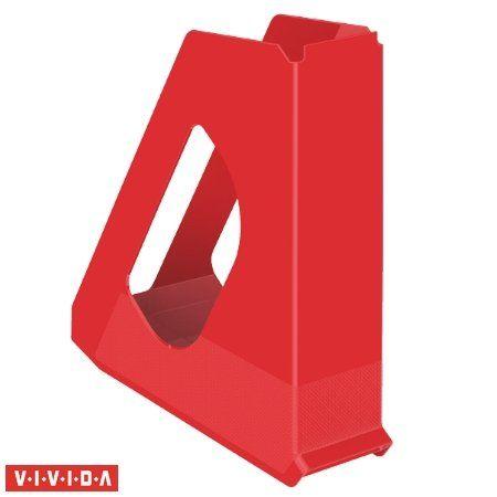 """Zakladač, plastový, 68 mm, ESSELTE """"Europost"""", Vivida červený"""