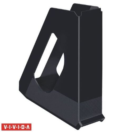 """Zakladač, plastový, 68 mm, ESSELTE """"Europost"""", Vivida čierny"""