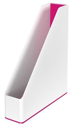 """Zakladač, plastový, 73 mm, dvojfarebný, LEITZ """"Wow"""", ružový"""