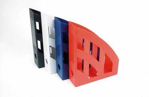 Zakladač, plastový, 75 mm, HELIT, červený