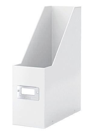 """Zakladač, PP/kartón, 95 mm, lakový lesk, LEITZ """"Click&Store"""", biely"""