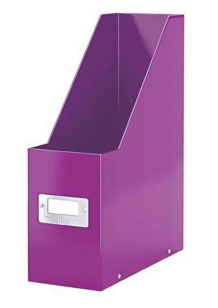 """Zakladač, PP/kartón, 95 mm, lakový lesk, LEITZ """"Click&Store"""", fialový"""