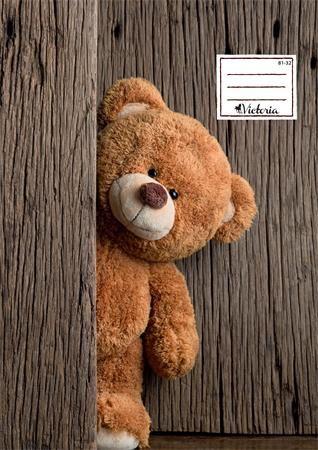 """Zošit, A4, linajkový, 32 listov, VICTORIA, """"Teddy"""", """"81-32"""""""