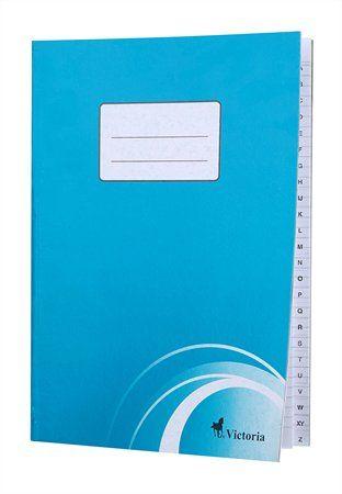 Zošit s registrom, A4, 80 listový, linajkový