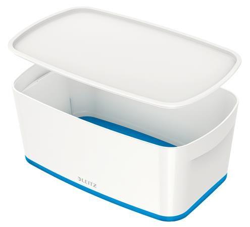"""Archivačná krabica, s vekom, malá, LEITZ """"MyBox"""", biela-modrá"""