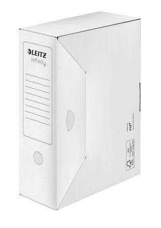 "Archívny box, A4, 100 mm, LEITZ ""Infinity"", biely"