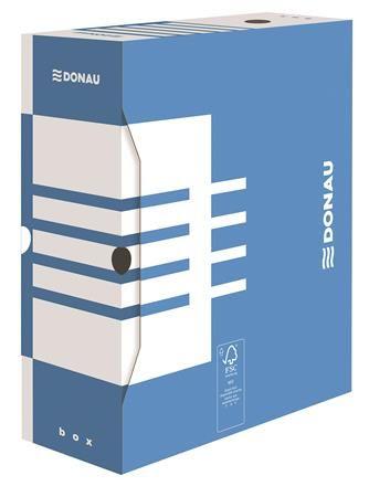 Archívny box, A4, 120 mm, kartón, DONAU, modrý