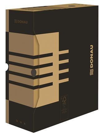 Archívny box, A4, 120 mm, kartón, DONAU, prírodný