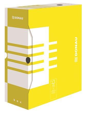 Archívny box, A4, 120 mm, kartón, DONAU, žltý