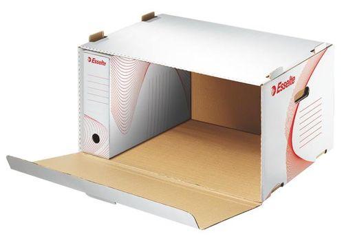 """Archívny kontajner, kartón, dopredu otvárateľné veko, ESSELTE """"Standard"""", biely"""