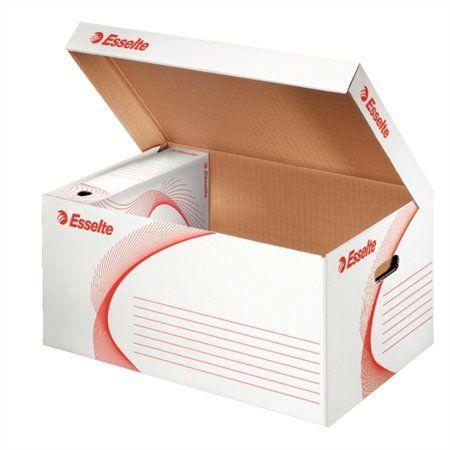 """Archívny kontajner, kartón, otváranie veka smerom nahor, ESSELTE """"Standard"""", biely"""