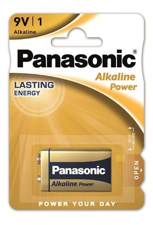 "Batéria, 9V, 1 ks, PANASONIC ""Alkaline power"""