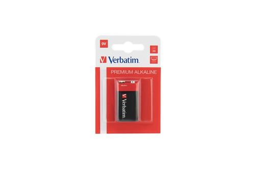 "Batéria, 9V, 1 ks, VERBATIM ""Premium"""