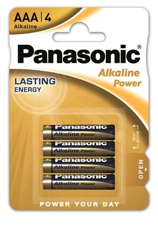 "Batéria,  AAA mikrotužková, 4 ks, PANASONIC ""Alkaline power"""