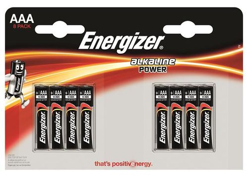 """Batéria, AAA mikrotužková, 8 ks, ENERGIZER """"Alkaline Power"""""""