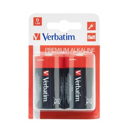 "Batéria, D veľkokapacitná, 2 ks, VERBATIM ""Premium"""