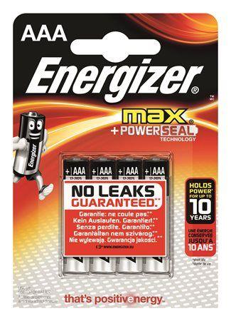 """Batérie, AAA mikrotužková, 4 ks, ENERGIZER """"Max"""""""