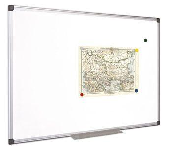 Biela tabuľa, magnetická, 100x100 cm, hliníkový rám, VICTORIA