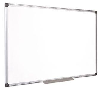 Biela tabuľa, magnetická, smaltovaná, 90x120 cm, hliníkový rám, VICTORIA