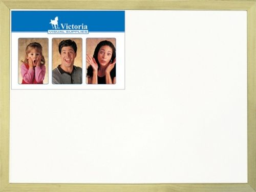Biela tabuľa, nemagnetická, 30x40 cm, drevený rám, VICTORIA