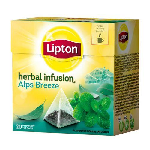 Čaj Lipton Alps mäta a eukalyptus  22g pyramídy