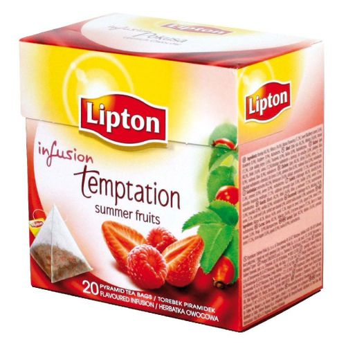 Čaj Lipton Temptation red  40g pyramídy