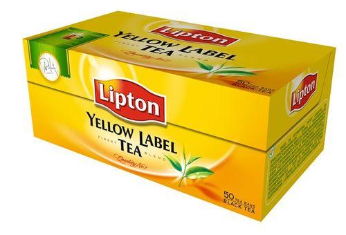 """Čaj Lipton""""yellow label"""", 50 x2g"""