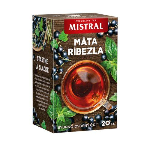 Čaj Mistral bylinný mäta, citrónová tráva, čierna ríbezľa 30g