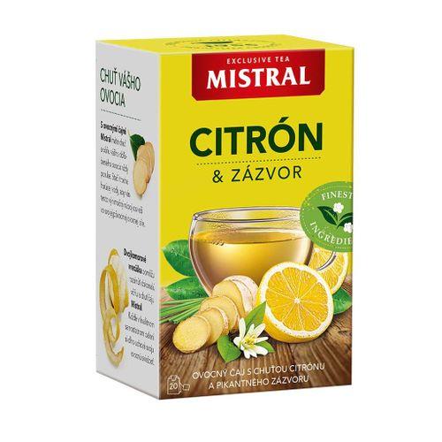 Čaj Mistral ovocný citrón zázvor 40g