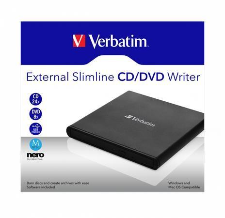 CD/DVD zapisovačka, USB 2.0, externá, VERBATIM