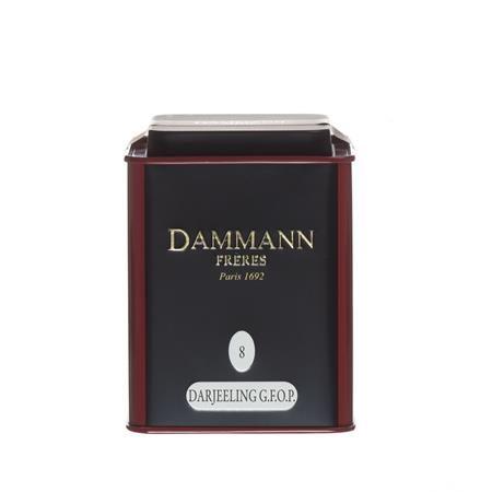 """Čierny čaj, v kovovej krabici, 100 g, DAMMANN, """"Darjeeling No. 8"""" sypaný"""