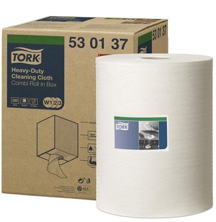 "Čistiace utierky, na čistenie s rozpúšťadlom, TORK ""Premium Multipurpose Cloth 530"", biele"