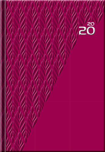 Denný diár A5 12M-PRINT Red