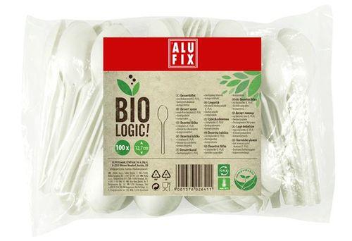 "Dezertná lyžička, 100 ks, ALUFIX, ""BioLogic"""