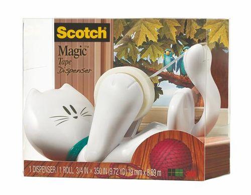 """Dispenzor na lepiacu pásku, stolový, s lepiacou páskou, 3M SCOTCH """"C39"""", mačička"""