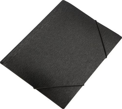 "Doska s gumičkou, 15 mm, PP, A4, PANTA PLAST ""Simple"", metálovo čierna"