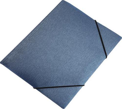 "Doska s gumičkou, 15 mm, PP, A4, PANTA PLAST ""Simple"", metálovo modrá"