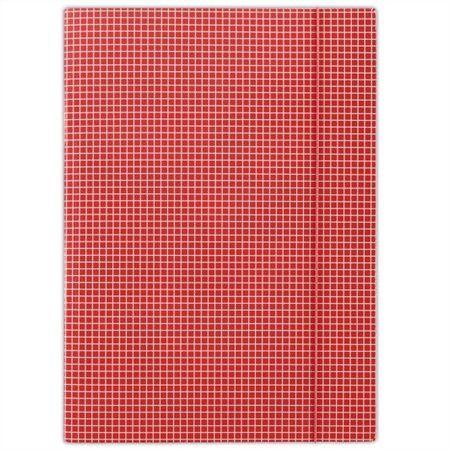 Doska s gumičkou, kartónová, A4, kockovaná, DONAU, červená