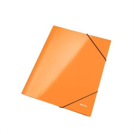 "Doska s gumičkou, 15 mm, kartón, A4, LEITZ ""Wow"", oranžová"