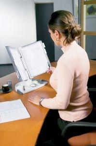 """Držiak na prezetačné tabule, stolový, A4, 10 ks prezentačných tabuľ, TARIFOLD """"Design"""", si"""