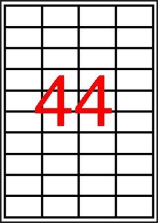 Etikety, 48,5x25,4 mm, polyester, zaoblené rohy, APLI, priehľadné, 440 etikiet/bal