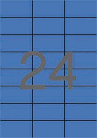 Etikety, 70x37 mm, farebnés, APLI, modré, 2400 etikiet/bal